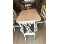 White table & 6 chairs extendable stunning item
