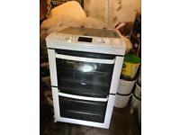 Zanussi ZCV550MWC 55cm double oven electric cooker,excellent working order