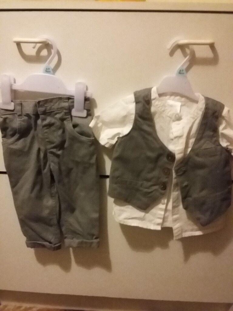 6-9 month boys grey suit