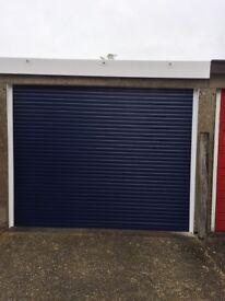 Roller garage door.