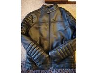 Next kids faux leather black jacket aged 6 years
