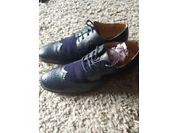 Sz 7 Blue Brogues Almost New Gatsby Shoes