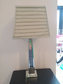 Art Deco Style Mirrored Table Lamp (and shade) 2 Available
