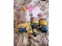 Collection of Minion plushes