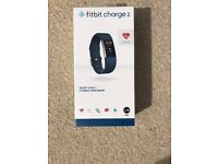 Fitbit Charge 2 Heart Rate and Fitness Wristband - Large Blue - Brand New SEALED