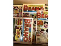 Collection Pile of memorabilia old beano comics