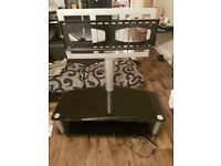 £40 black glass tv stand with built in tv bracket!!