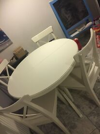 Ikea white dining table