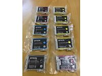 Ten Sealed Genuine Epson Printer Ink Cartridges T0711, T0712, T0713, T0714