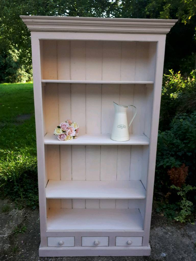 Shabby Chic Painted Bookshelf Bookcase Shelves Cabinet Dresser