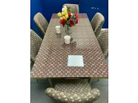 👌🔥🔥 LOUIS VUITTON EXTENDABLE DINING TABLE WITH DOUBLE PADDED 6 CHAIRS FOR SALE