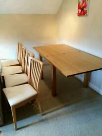 Extending Kitchen Table with 4 Chairs