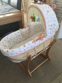 Mothercare Moses basket & rockable stand