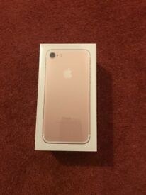 iPhone 7 Brand New in Box 32gb Gold