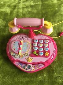 Vtech Disney Princess talk n teach telephone