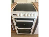 500 wide Zanussi free standing double fan oven