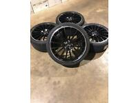 """Brand new set of 19"""" split size alloy wheels and tyres Mercedes"""