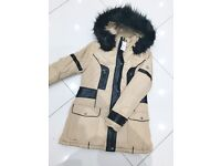 Brand New With Tags Ladies Moncler Black Fur Hood Jackets Black/Yellow £55