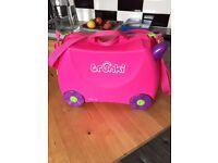 Pink trunki Kids travel bags on wheels