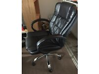Leather Office Swivel Chair - Good condition