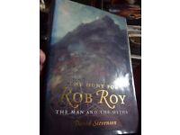 """The Hunt For Rob Roy"" hardback book"