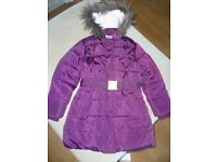 M&S belted, padded coat aged 7-8 years
