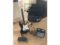 Electric Guitar, amp & accessories (by Fender)