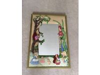 Crafted decorative framed mirror woodland Scene and animals