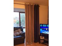 Navy blue curtains