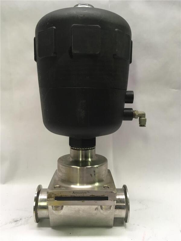 "2"" Aquasyn Auto Pneumatic Diaphragm Valve 316L SS Stainless Sanitary"