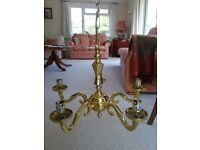 Five Arm Brass Ceiling Light Fitting - Hanging Light