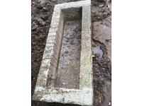 Granite trough for garden use
