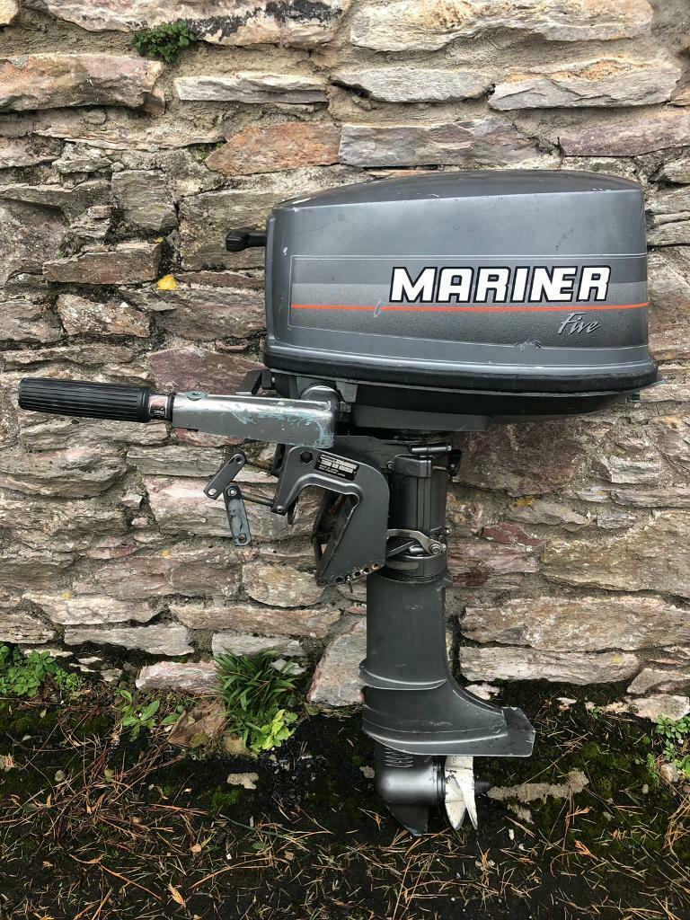 Mariner 5hp 2 stroke outboard engine long shaft | in Plymouth, Devon |  Gumtree