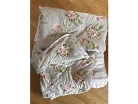 STUNNING SANDERSON KING SIZE BED SPREAD THROW QUILTED