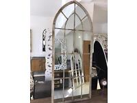 Large Metal Arch Mirror