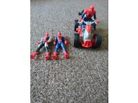 Spiderman moving quad bike and figures