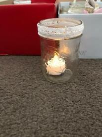 Wedding centre piece lights/jars.