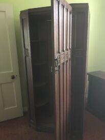 Bedroom suite- oak. 2 wardrobes and dressing table