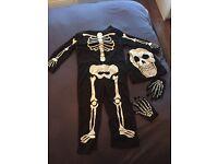 Halloween Age 3-4 Skeleton Costume