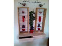 Floating drawer shelf and 2 glass shelf units