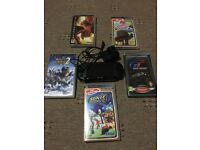 Psp console with 5 games