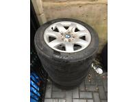"BMW 16"" alloy wheels with tyres only £70 space needed"