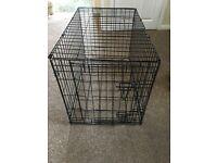 Black Metal Small/Medium dog crate