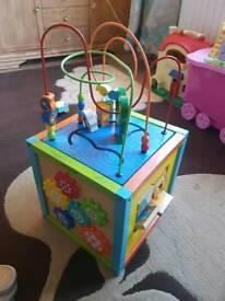 Activity play cube