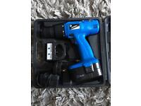 Silverline 14.4v drill driver cordless and case
