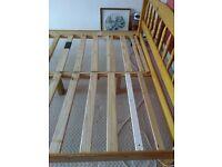 Pine bedframe approx 210 X 165