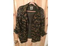Vintage army jacket studded
