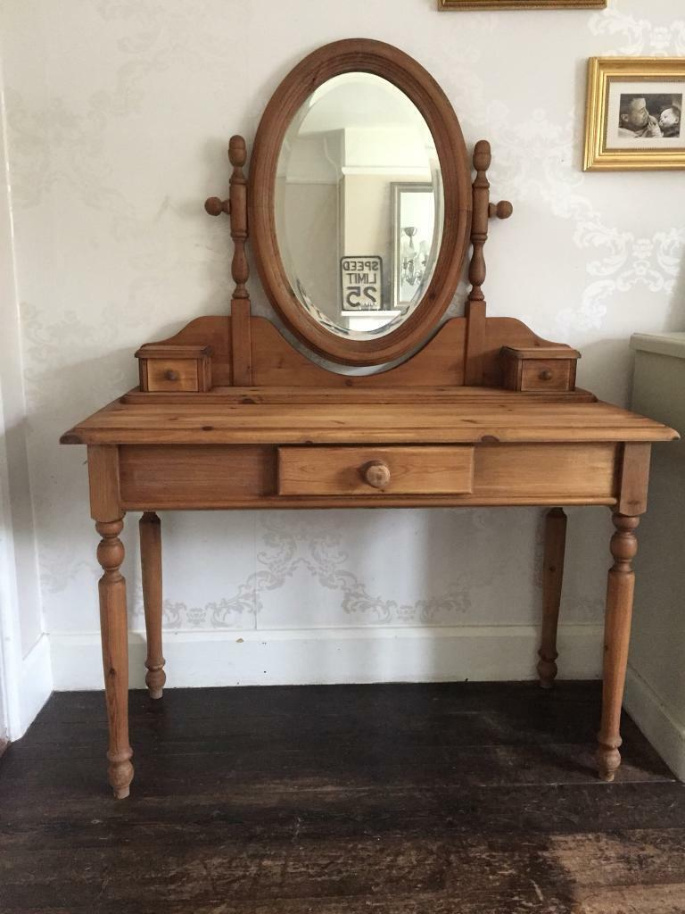 half off 019db d6530 Solid antique pine dressing table French style | in Norwich, Norfolk |  Gumtree
