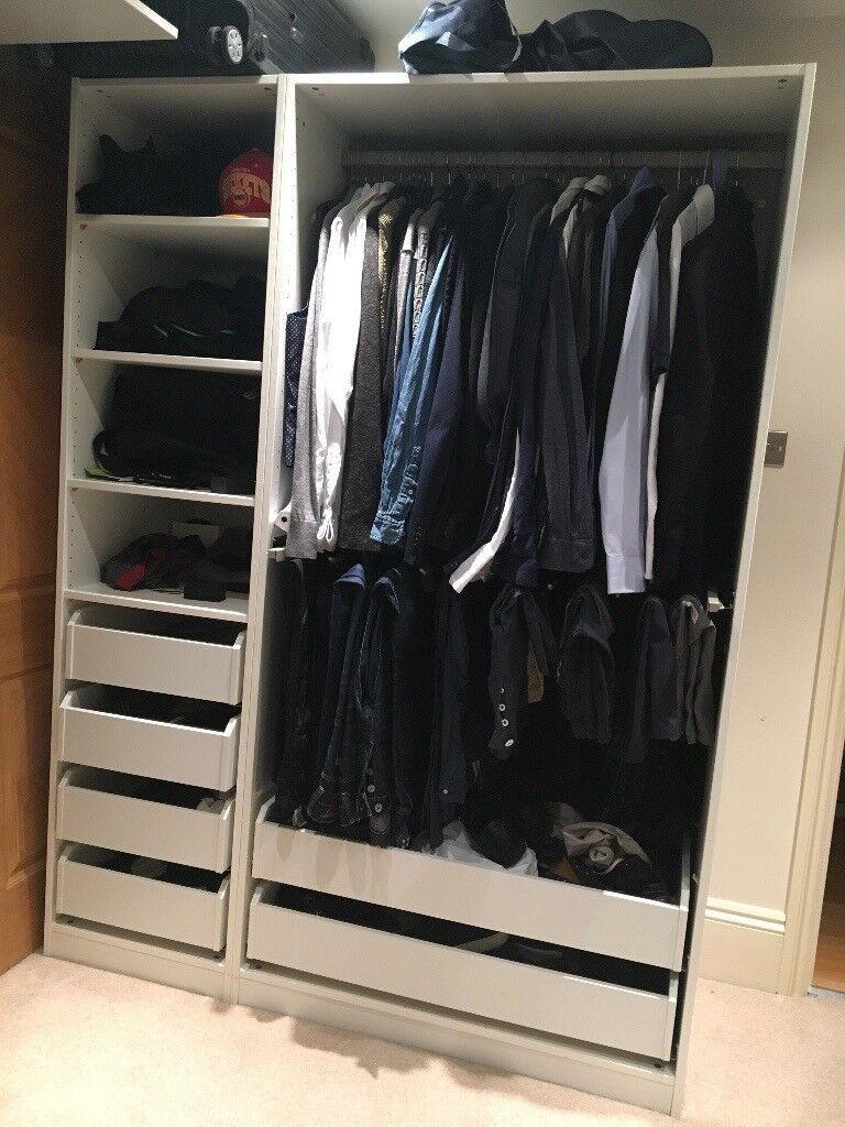 Pax Wardrobe in White