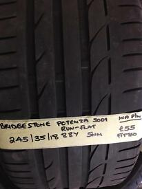 245/35/18 88Y bridgestone potenza run flat tyre